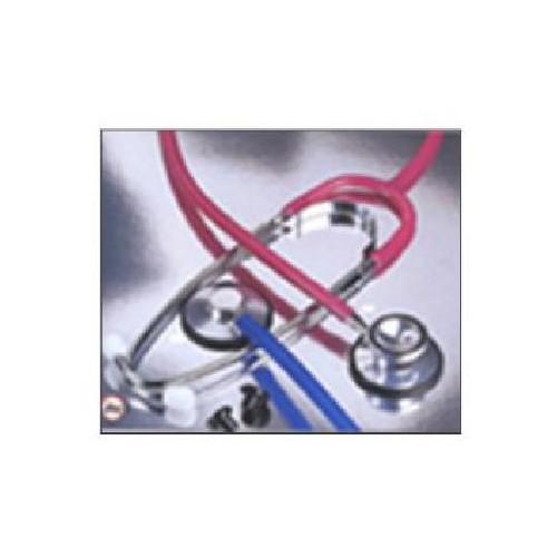 Single Head Stethoscope Burgandy Tubing